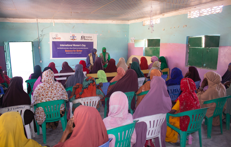 Education sessions and GBV kits distribution during International Women's Day in Galkayo South.