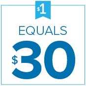 $1 Equals $30