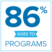 86% Goes to Programs