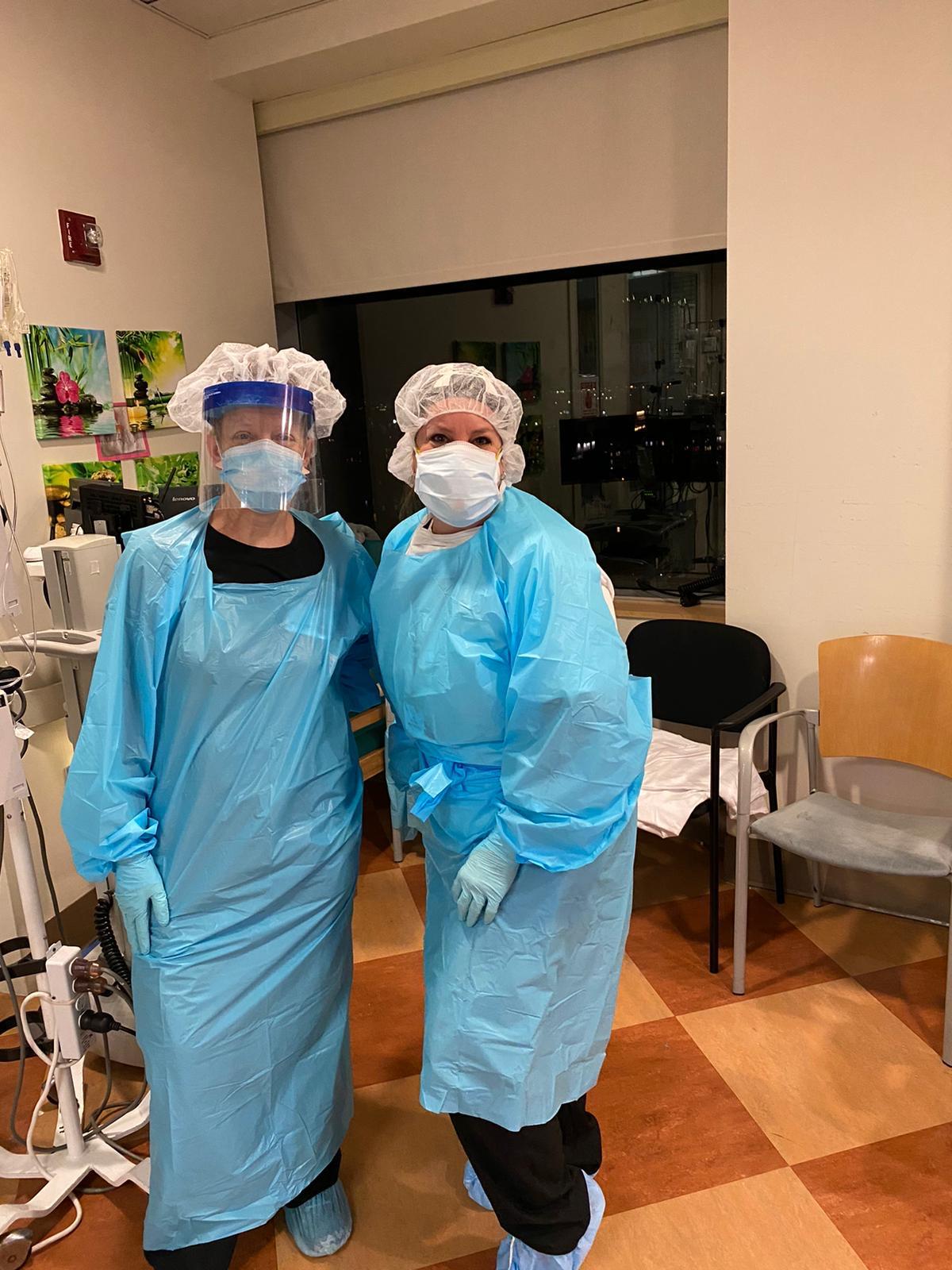 Kim Spray and Amy BowenVolunteers in NYC at Maimonides