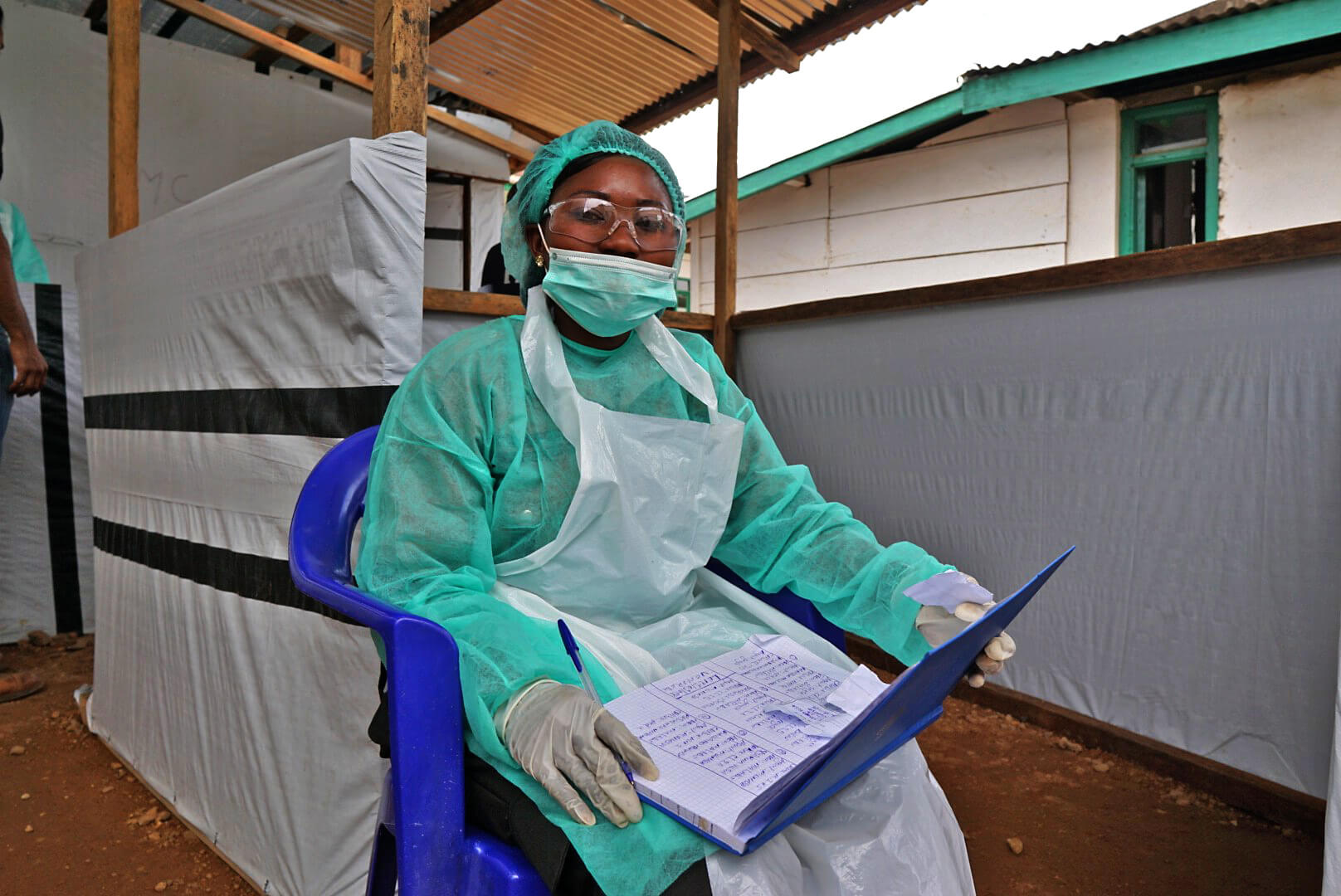 A nurse at the Screening and Referral Unit.