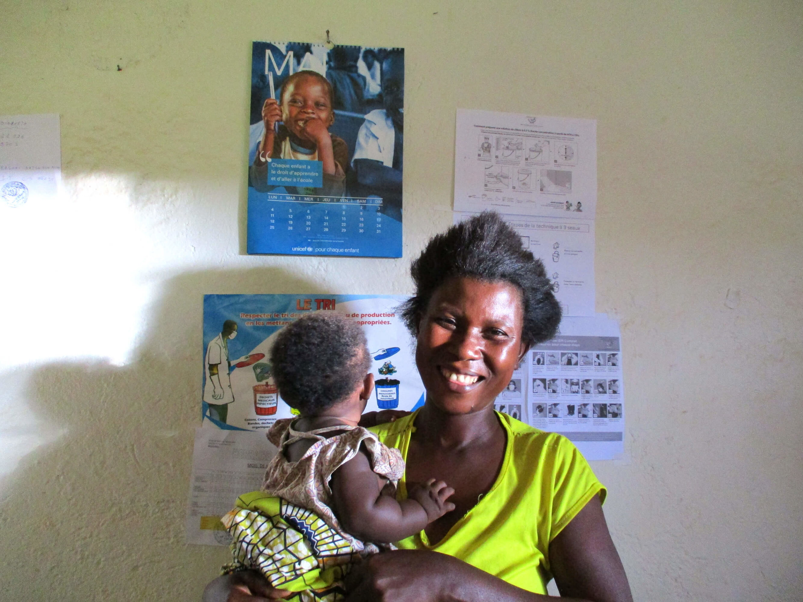 Masika and her daughter in Ngoyo. Masika learned infection protection and control from International Medical Corps, and says her children fall ill far less often as a result.