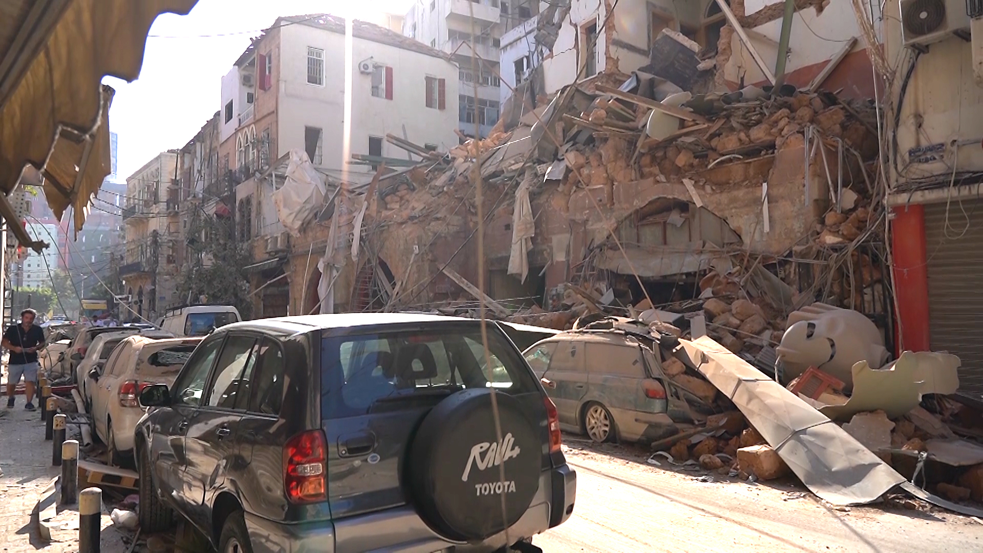 Destruction caused by the explosion in Beirut on August 4, 2020.