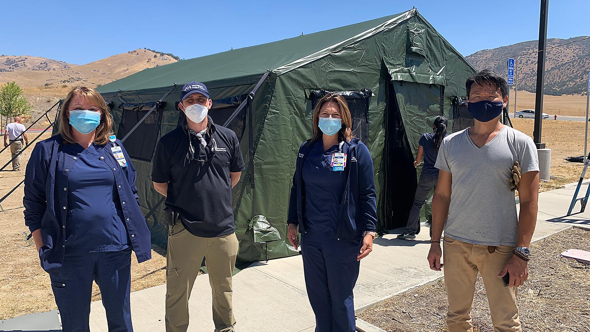 Adventist Health, Tehachapi field medical unit build.