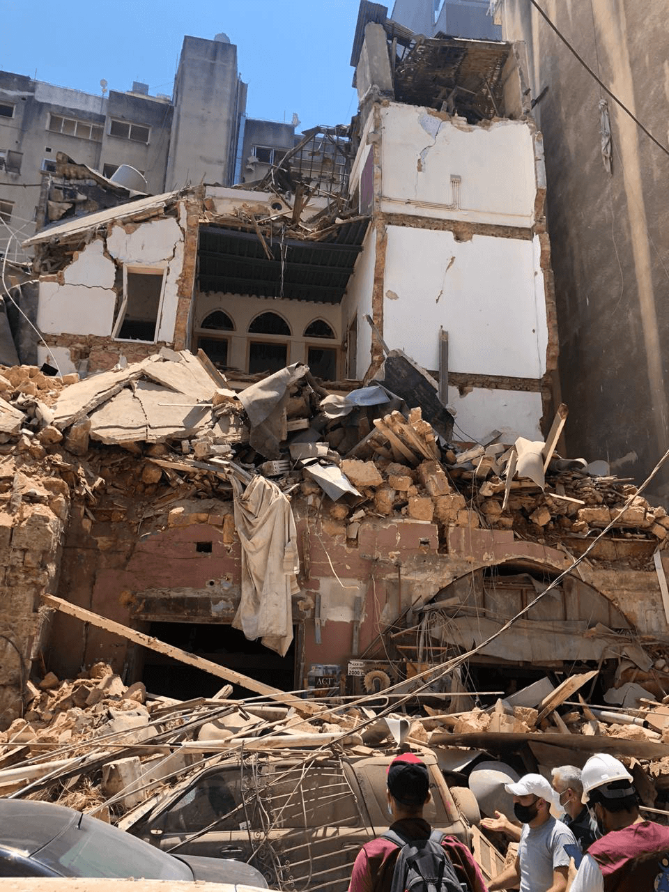Destruction caused by the blast in Beirut.