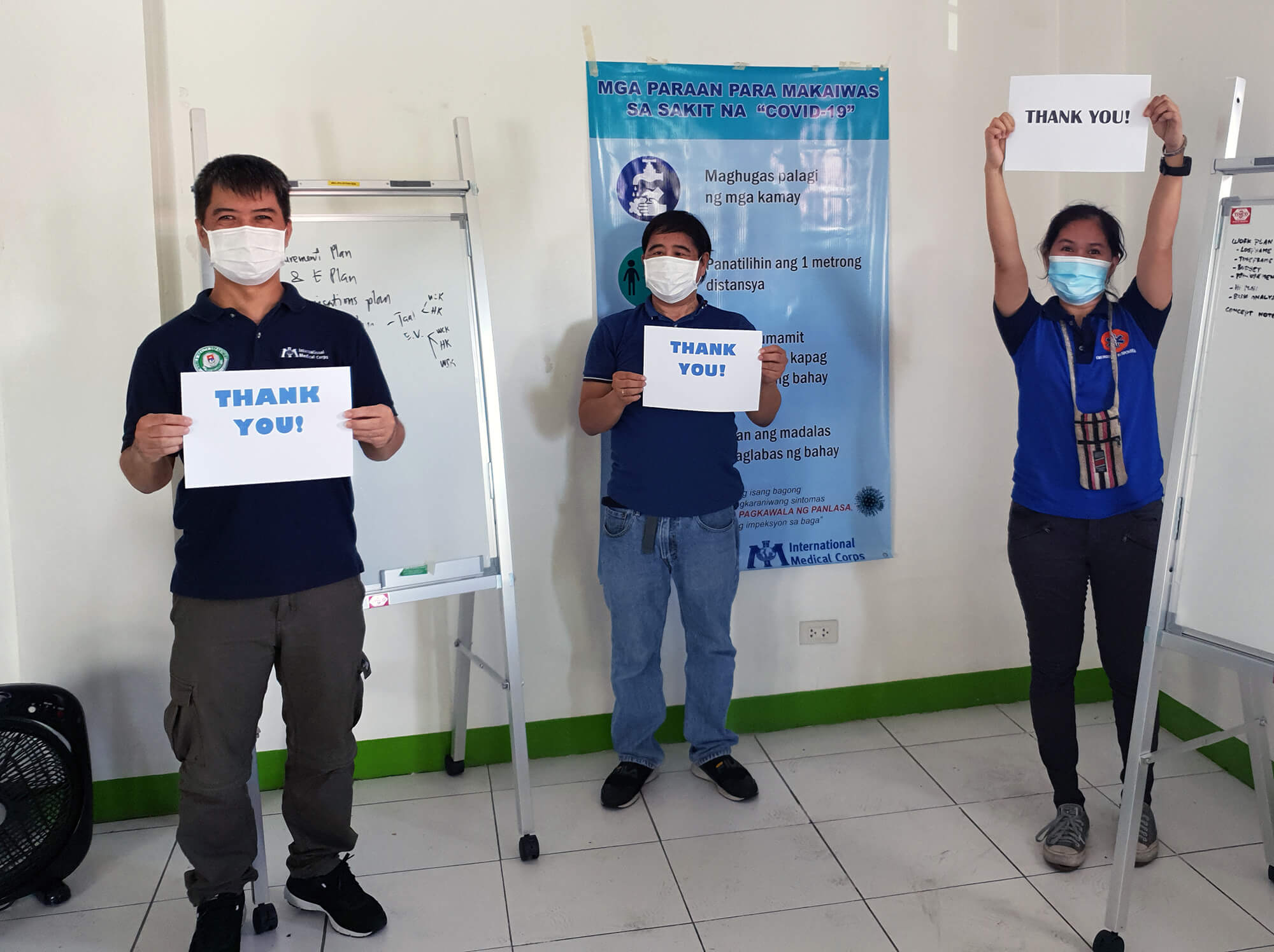 International Medical Corps staff in the Philippines.
