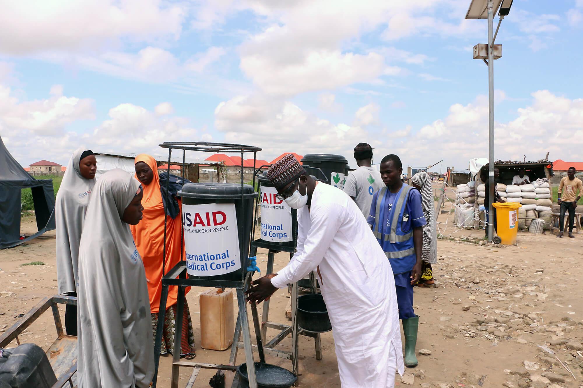 Handwashing station in Nigeria.