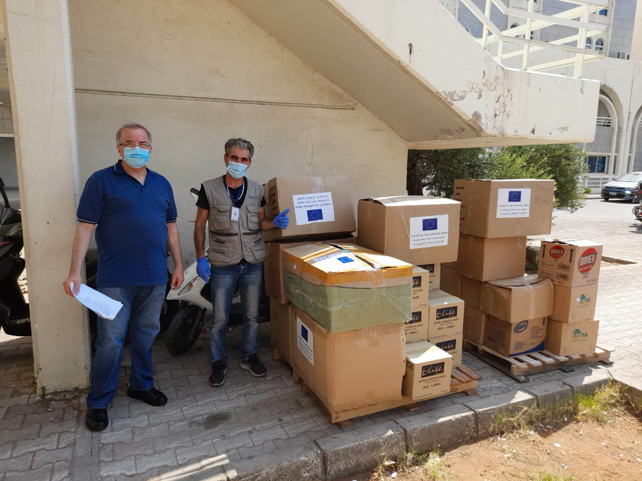 The Jesuit Hospital is one of 8 hospitals to receive PPE in Beirut, Lebanon.