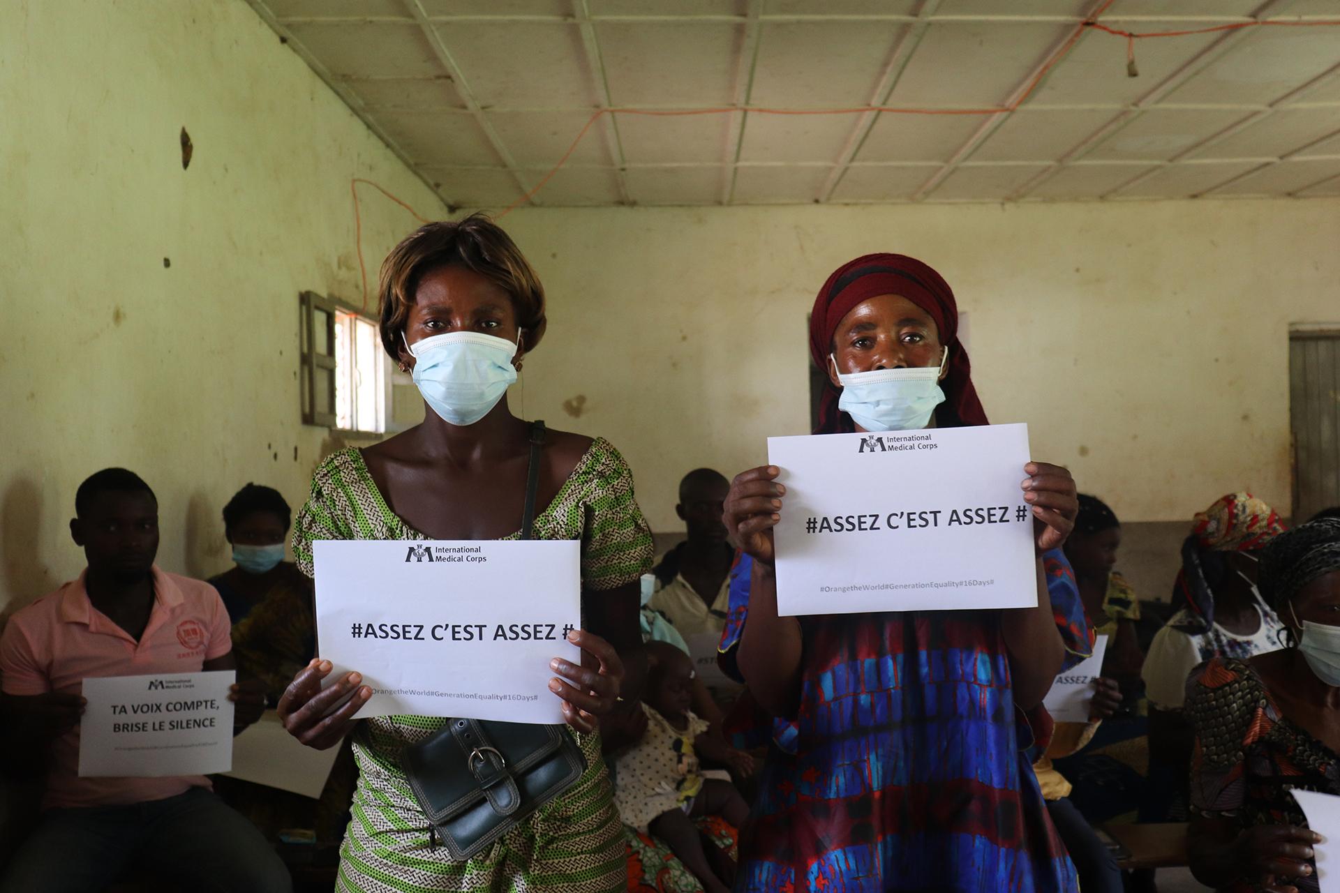 Women in the Democratic Republic of the Congo participate in the 16 Days campaign.