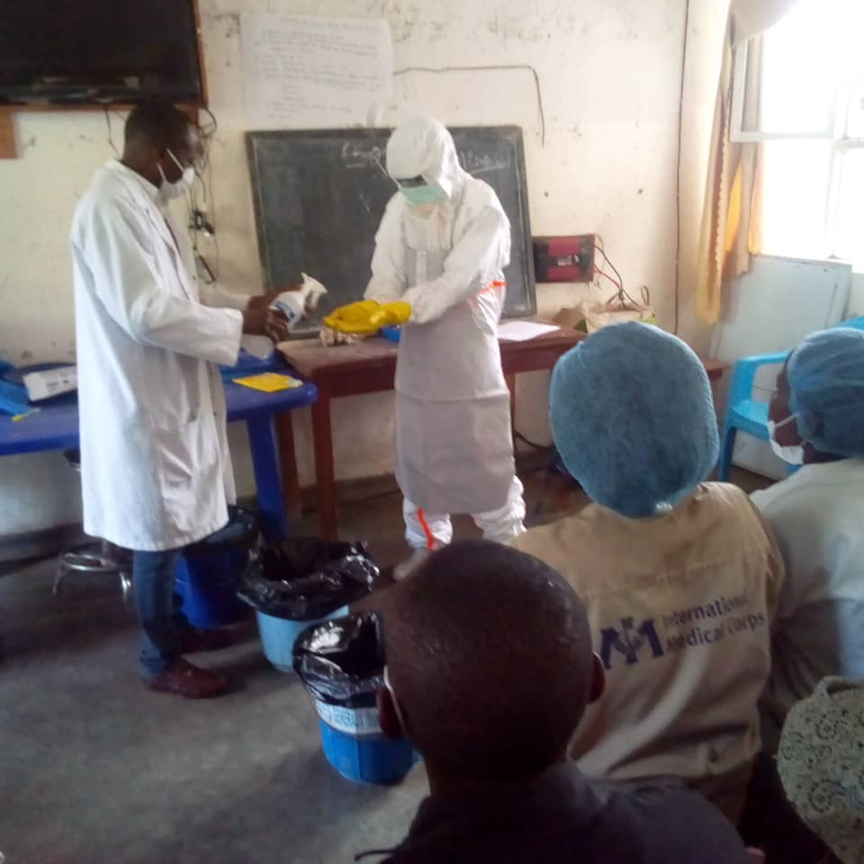 Handwashing Practices during donning/doffing activities in Masisi health zone, North-Kivu Province, DRC.