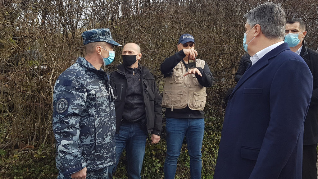 International Medical Corps' Team was permitted to join the President of the Republic of Croatia visit the hard hit village of Strasnik.