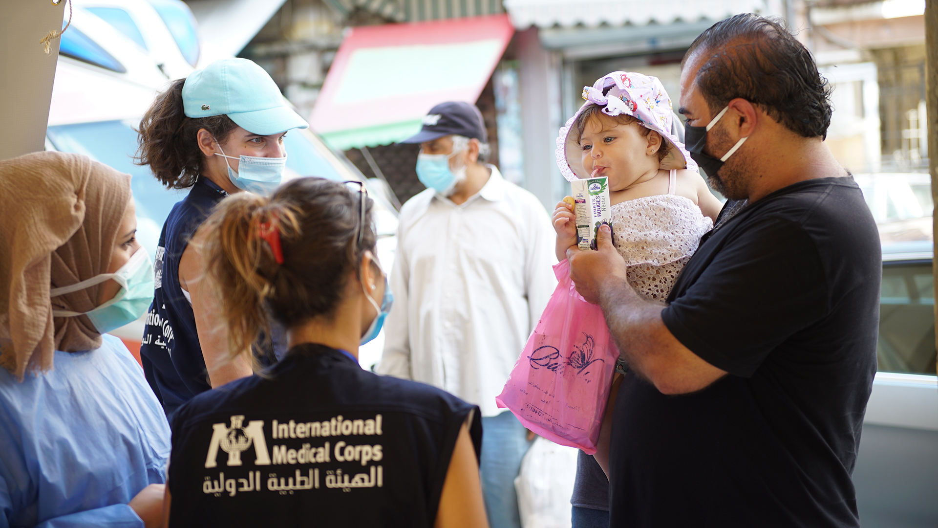 Just days after the port explosion that ripped through Beirut, International Medical Corps deployed a Mobile Medical Health Unit in Beirut to provide first aid to those affected.