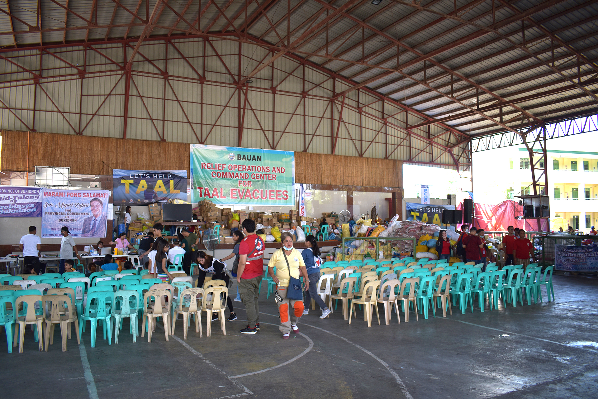 Support provided following the Taal Volcano  eruption on January 12.