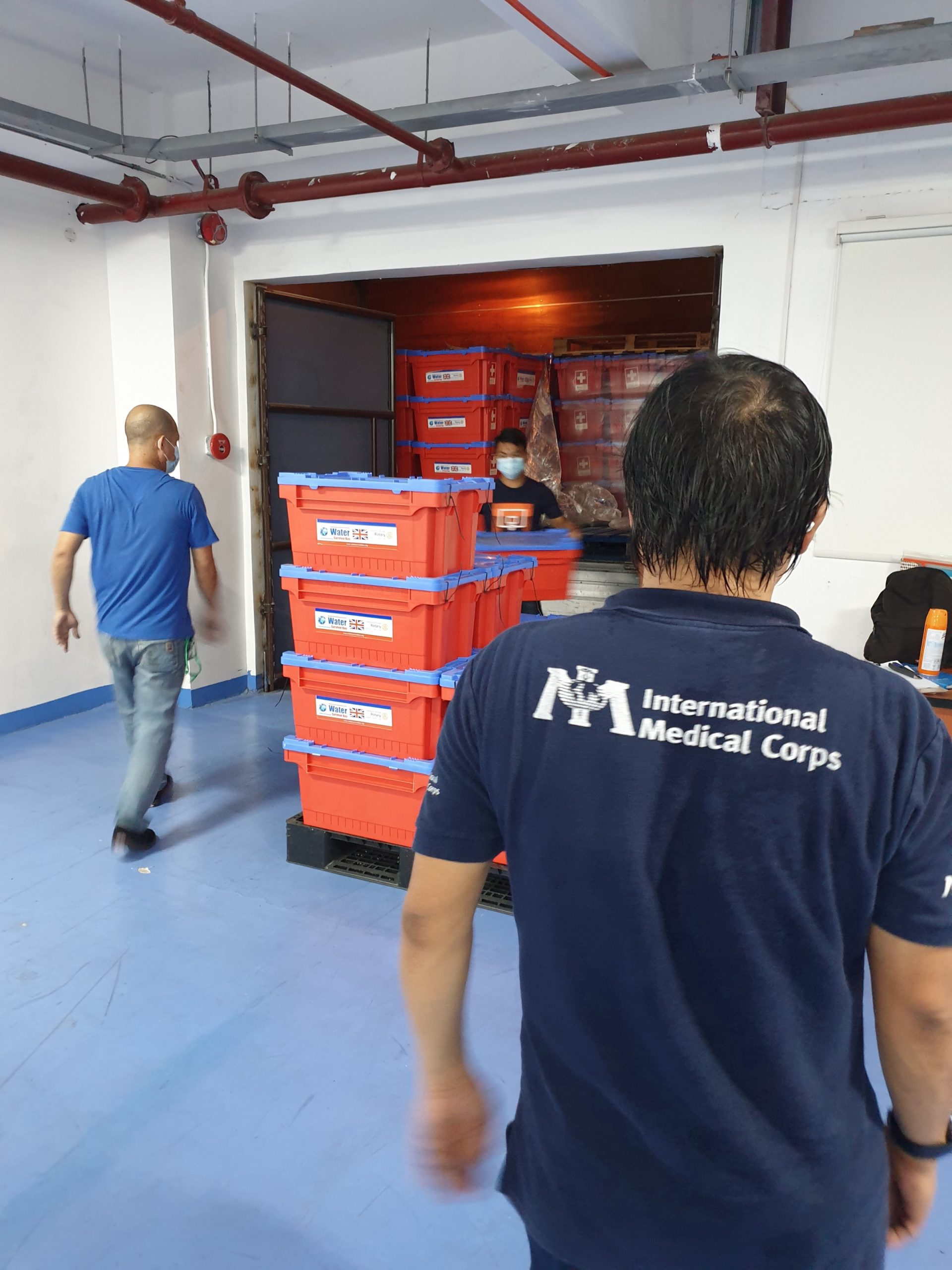 Supplies delivered to support the recovery of Super Typhoon Goni.