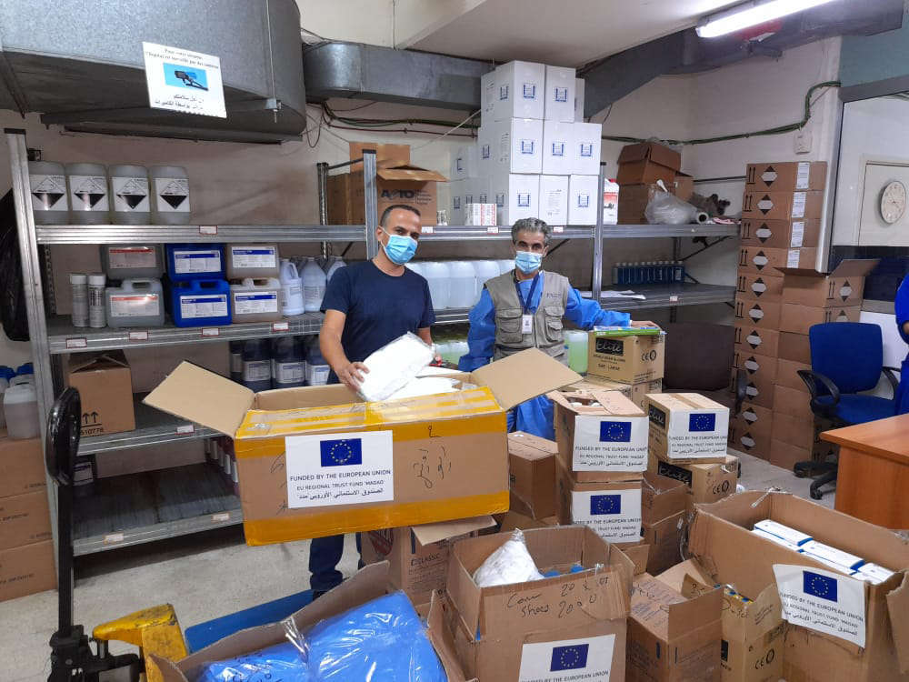 PPE Delivery to the Hotel Dieu Hospital, Beirut, Lebanon, made possible by a EU Grant.