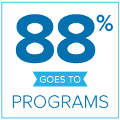88% goes to programs