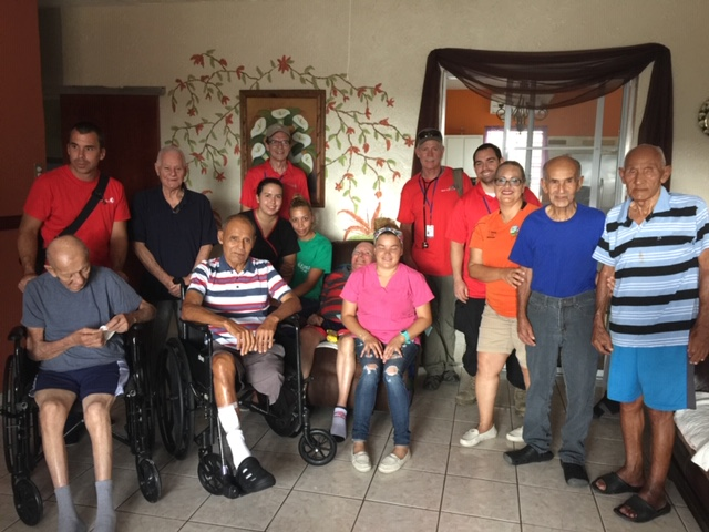 Dr. Paterson treats patients at a nursing home in Puerto Rico after Hurricane Maria.
