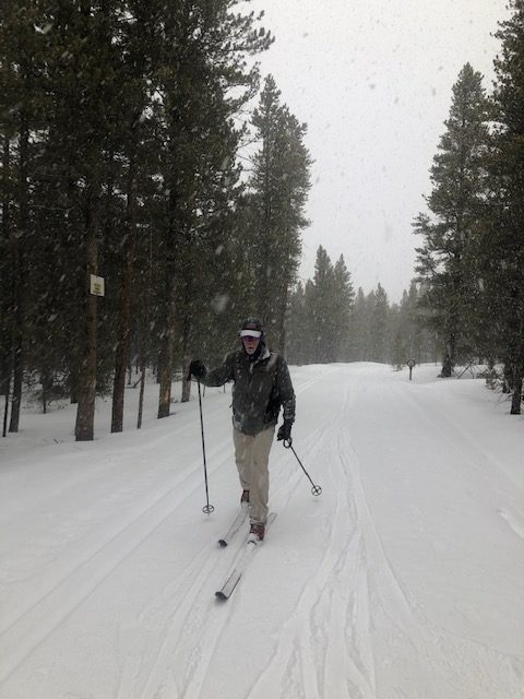 Dr. Mike Paterson skiing near Leadville, CO.