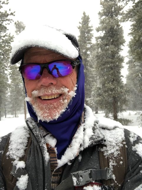 Dr. Mike Paterson training in Colorado for his upcoming Everest climb. His weekly workout includes skiing for 10 miles at an elevation above 10,000 feet.