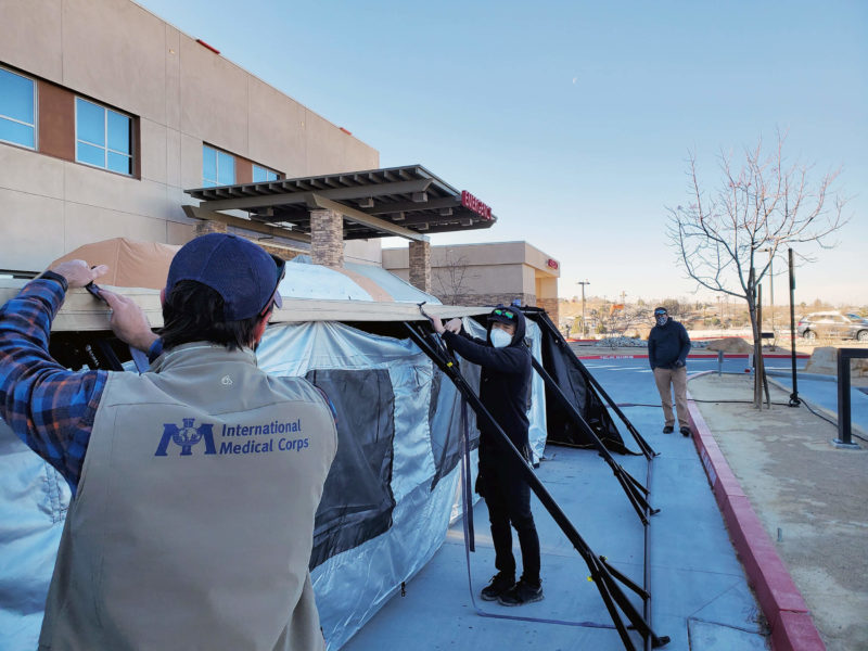 We've deployed additional resources to support facilities in Southern California. On January 6, we deployed a team to set up an emergency medical field unit at Barstow Community Hospital — a facility that was operating at nearly twice its capacity because of the virus.