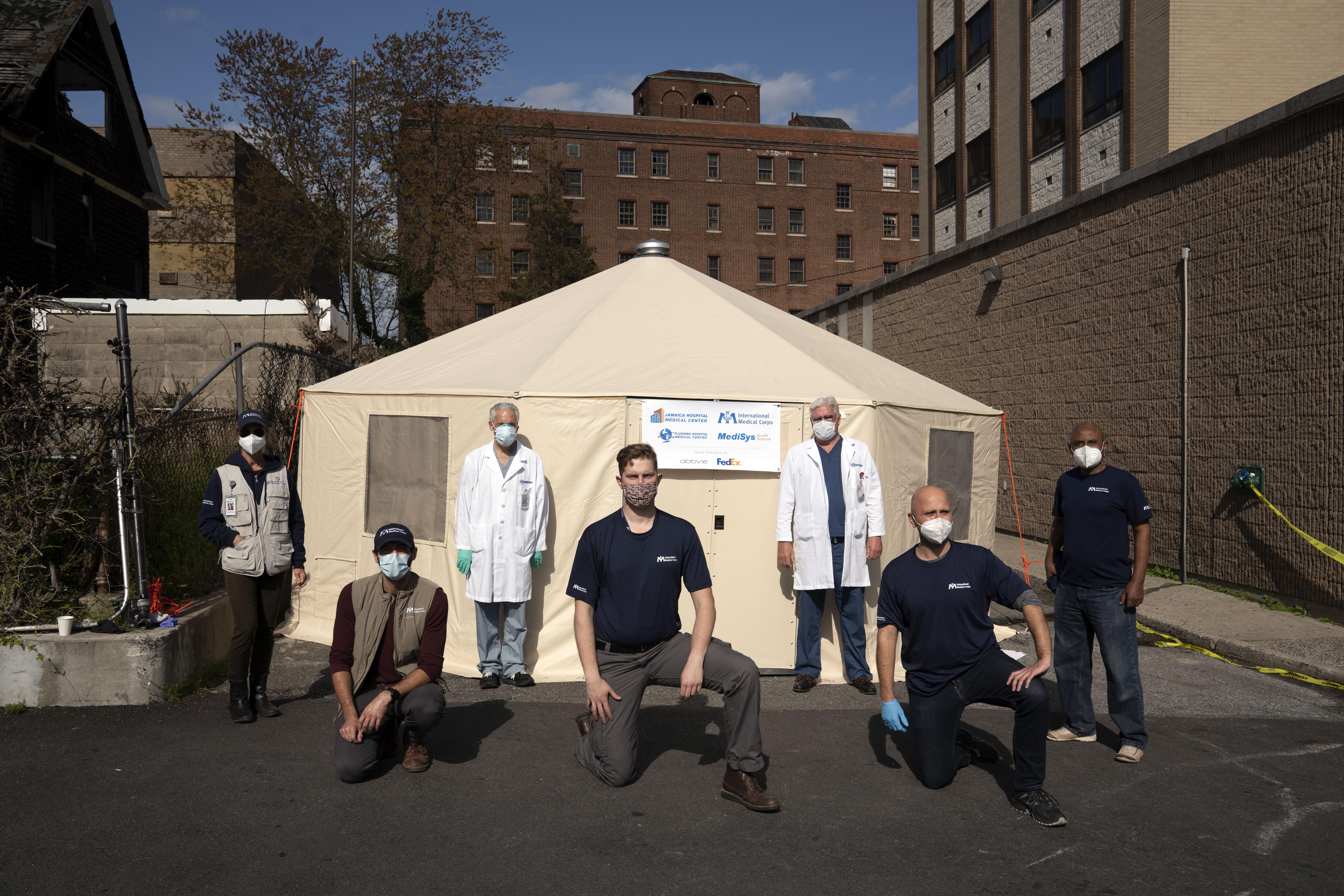 NYC - Flushing Medical Center - Emergency Medical Field Units set up Photo credit: Ben Lowy