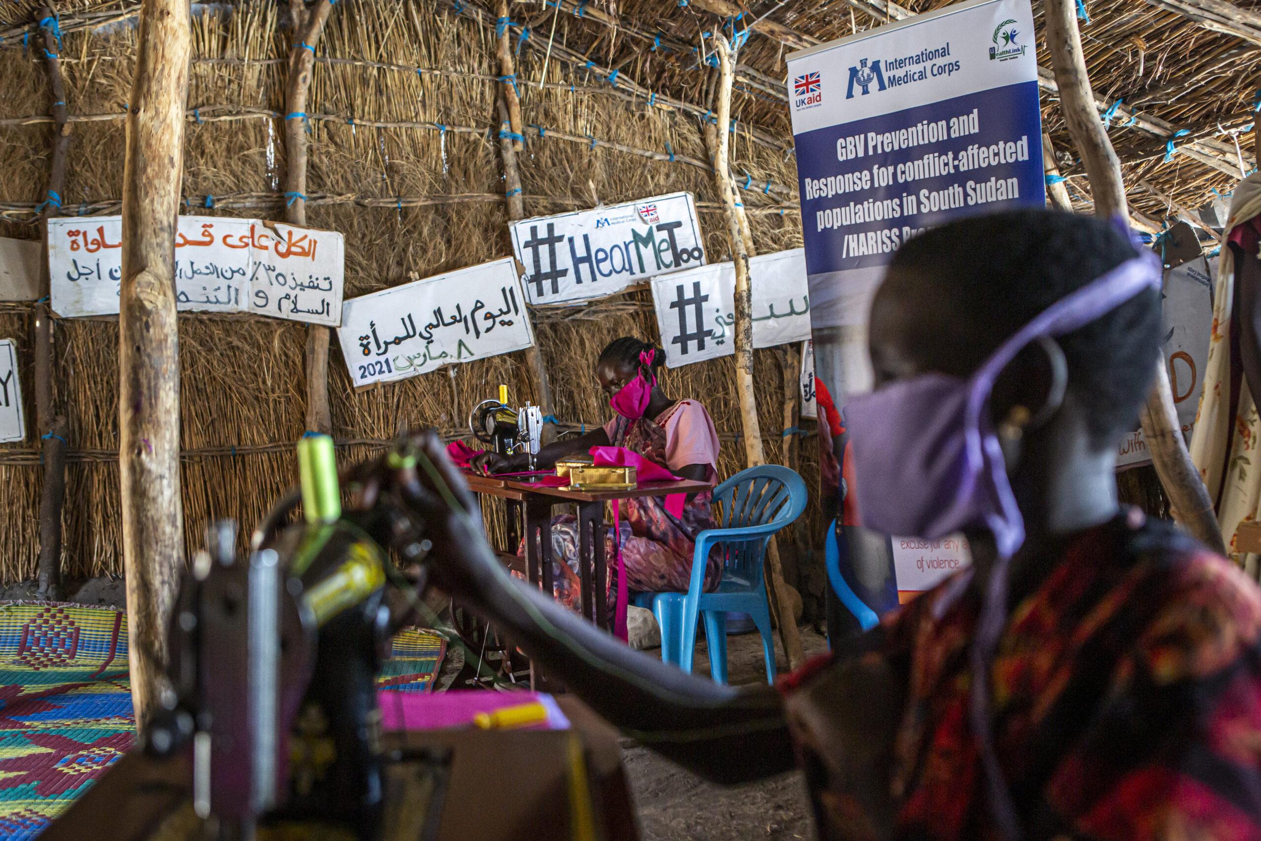 Women and Girls Friendly Space in Aburoch, South Sudan, on March, 17, 2021.