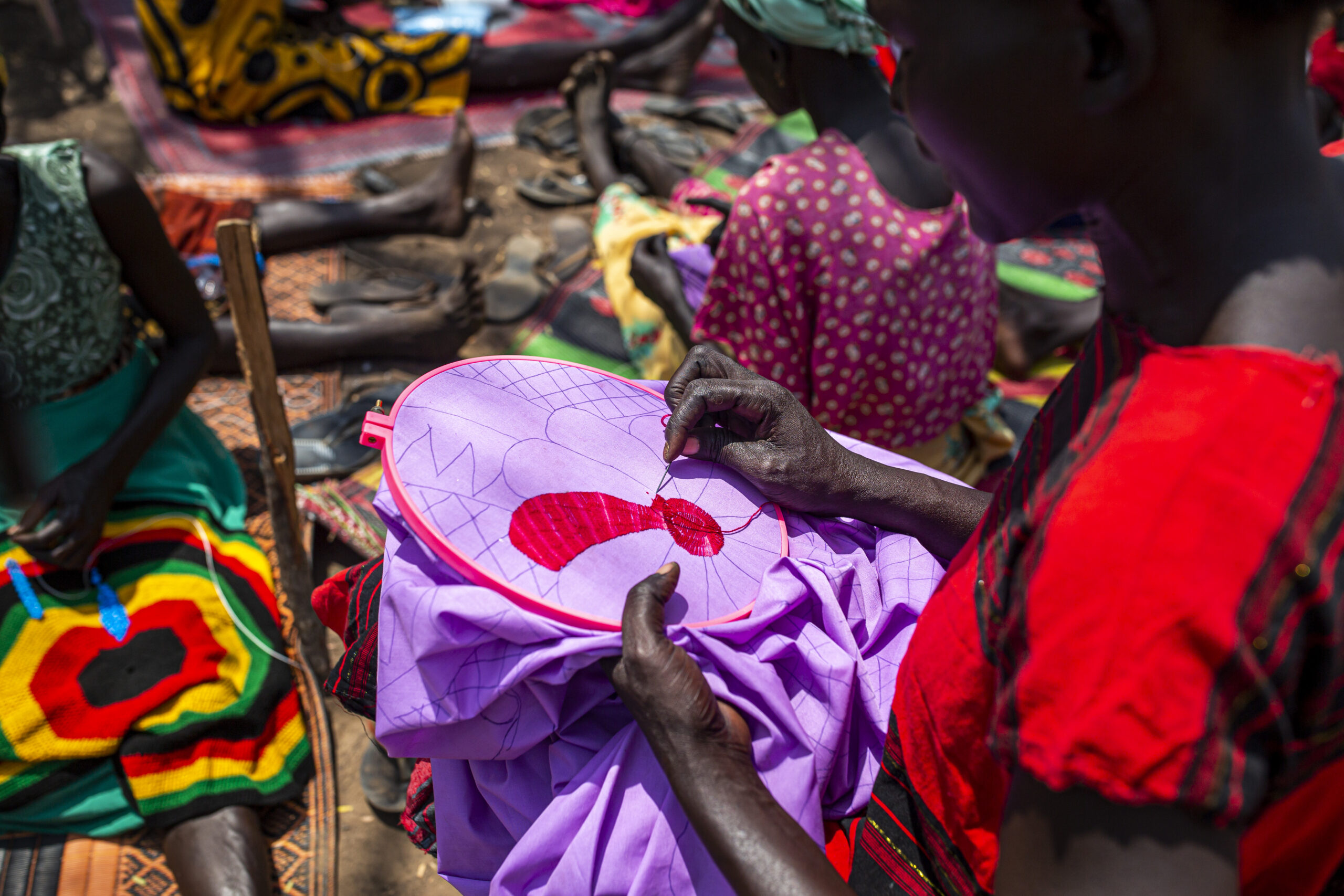 Women and Girls Friendly Space in Mangalla, South Sudan, on March 13, 2021.