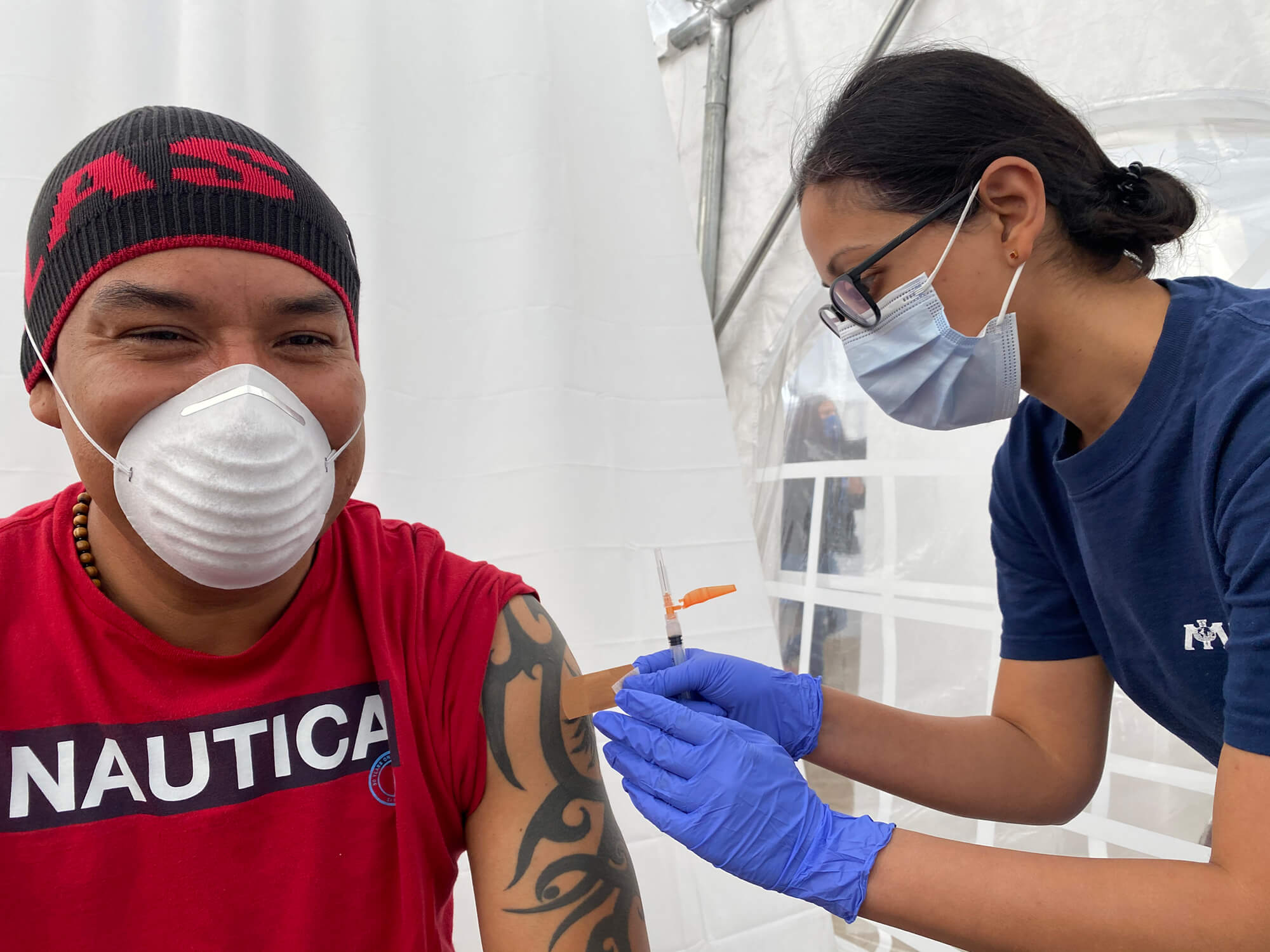 We are supporting vaccination efforts at Martin Luther King, Jr. Community Hospital and at Kedren Community Health Center, both of which serve vulnerable populations in Central and South Los Angeles.