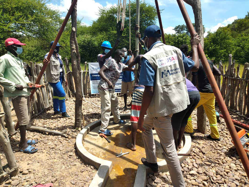 In Zimbabwe, our team helps ensure that communities have access to clean water by refilling boreholes and by training the local community on how to maintain water points.