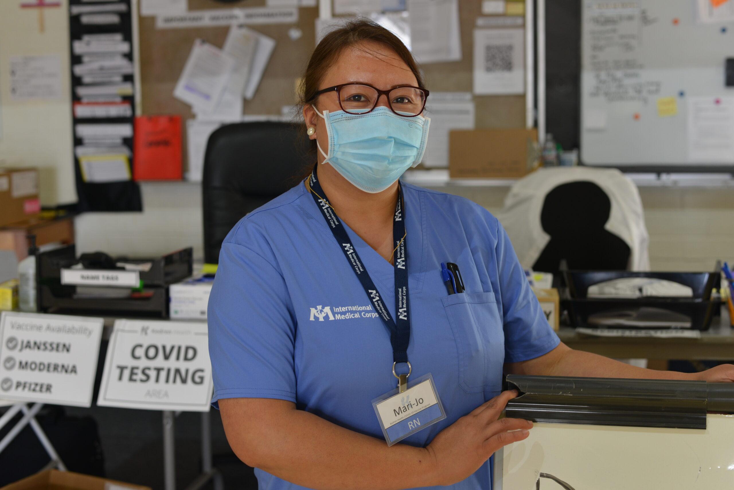 Portrait of International Medical Corps volunteer Mari Jose Kapunan.
