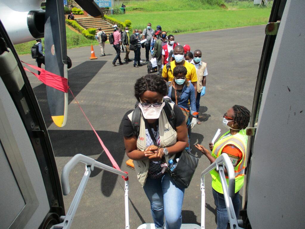Edwige Tiche, an International Medical Corps Nurse Supervisor, during a rapid deployment Ebola response in Beni, North Kivu Province.
