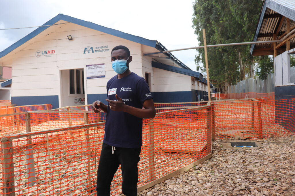 International Medical Corps staff doctor Ruffin Matafali explains the successful efforts made to fight DRC's 12th Ebola outbreak at Katwa ETC in North Kivu province.