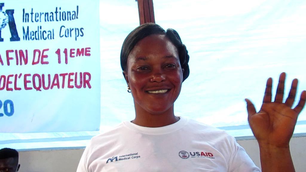 Bilepo Biempe, a survivor of the 11th Ebola outbreak in the DRC.