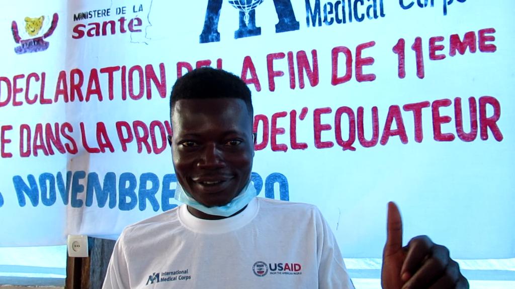 Mputu Basali, a survivor of the 11th Ebola outbreak in the DRC.