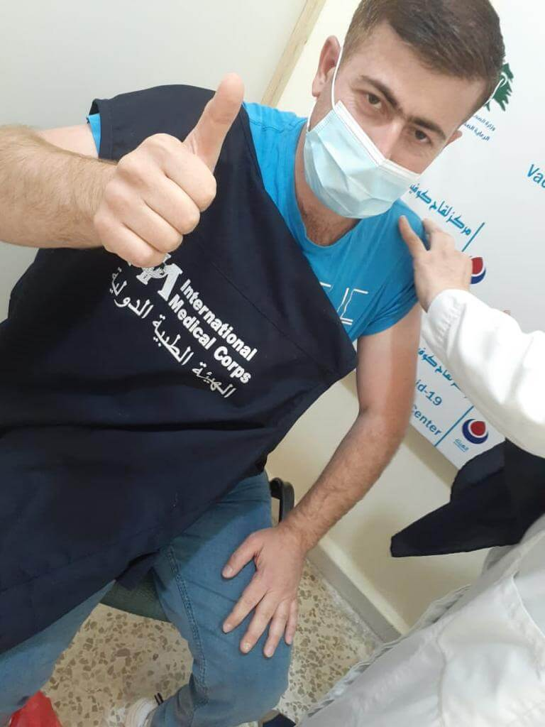 In Bekaa Valley, Lebanon, our team helped to support a COVID-19 vaccine marathon.