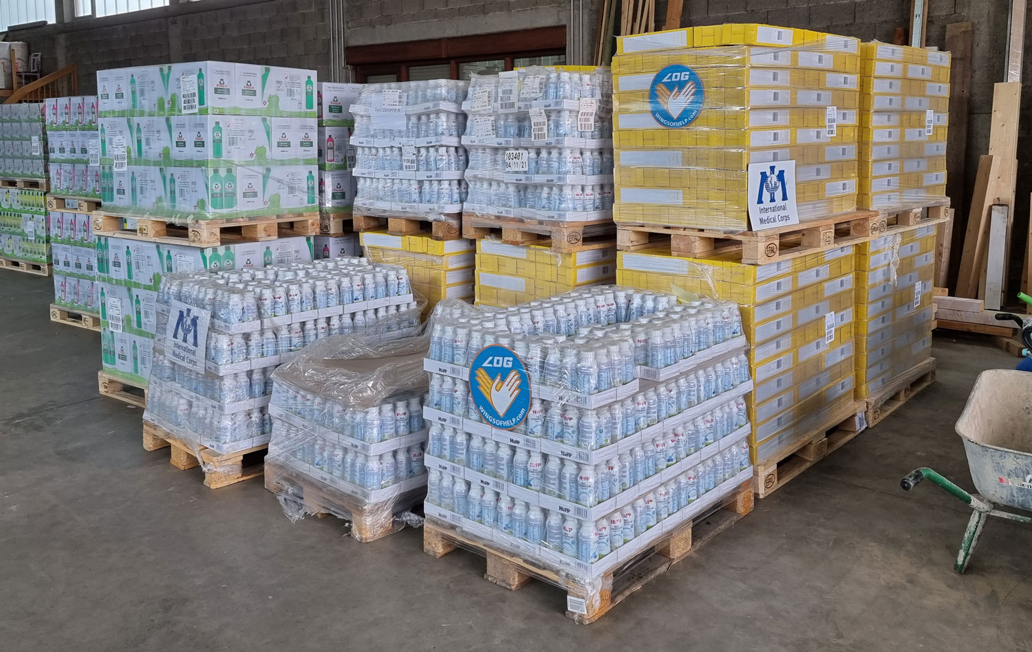 International Medical Corps and Luftfahrt ohne Grenzen have so far delivered close to 250 tons of relief supplies