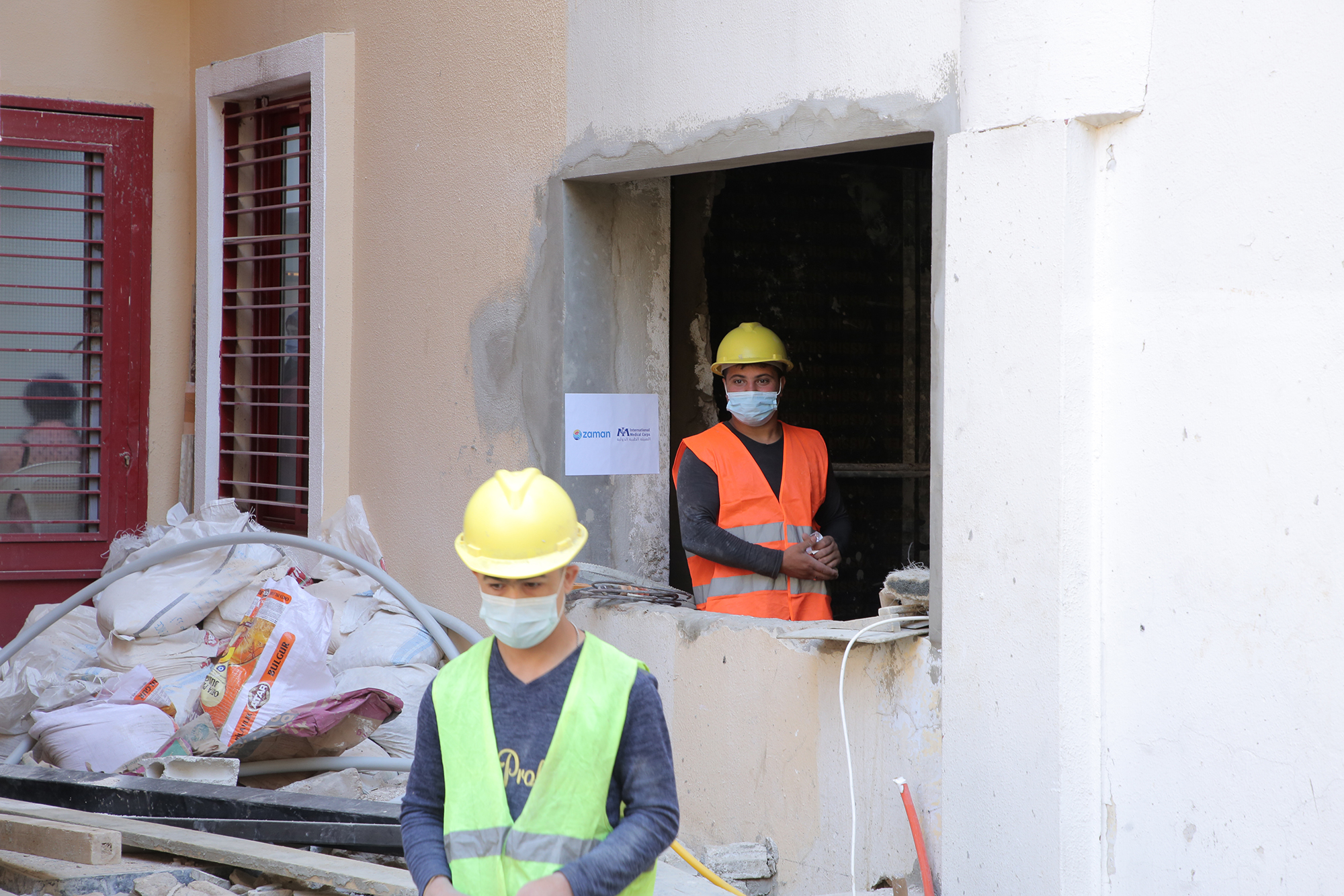 New lab construction in progress at Karagheusian Primary Healthcare Center.