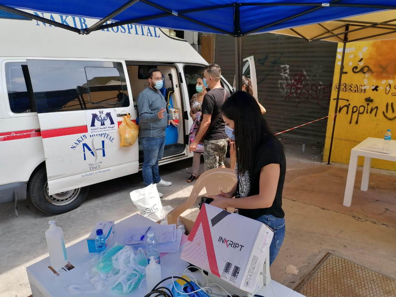 A mobile medical unit in the Geitawi Neighborhood.