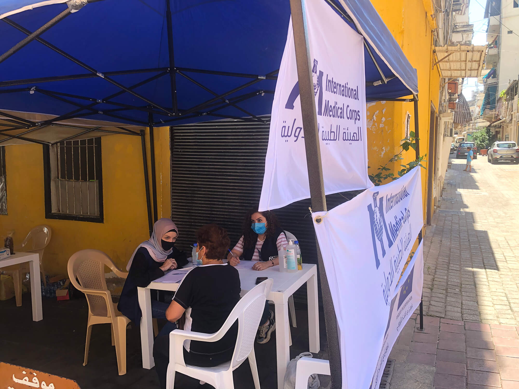 A mobile mental health clinic in Karm El Zaytoun Neighborhood.