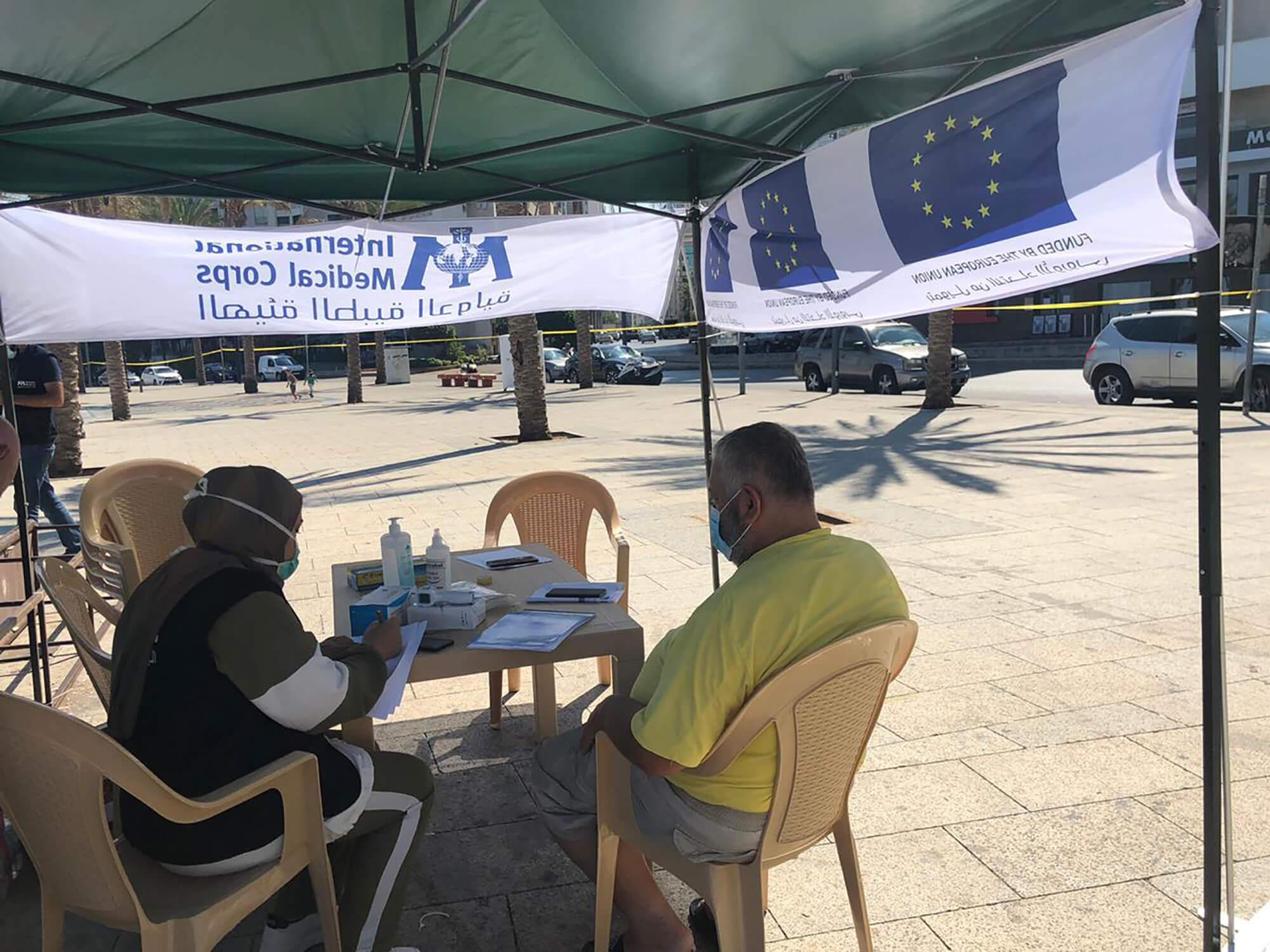 A mobile mental health unit in Ein El Mreisseh.
