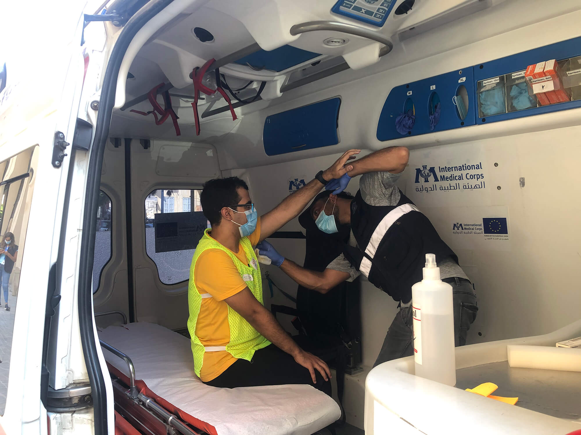 A mobile medical clinic in Mar Mkhayel.
