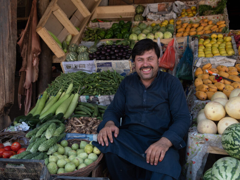 Zabita Khan is a member of an International Medical Corps gender-support group who owns a small fruit and vegetable stall.