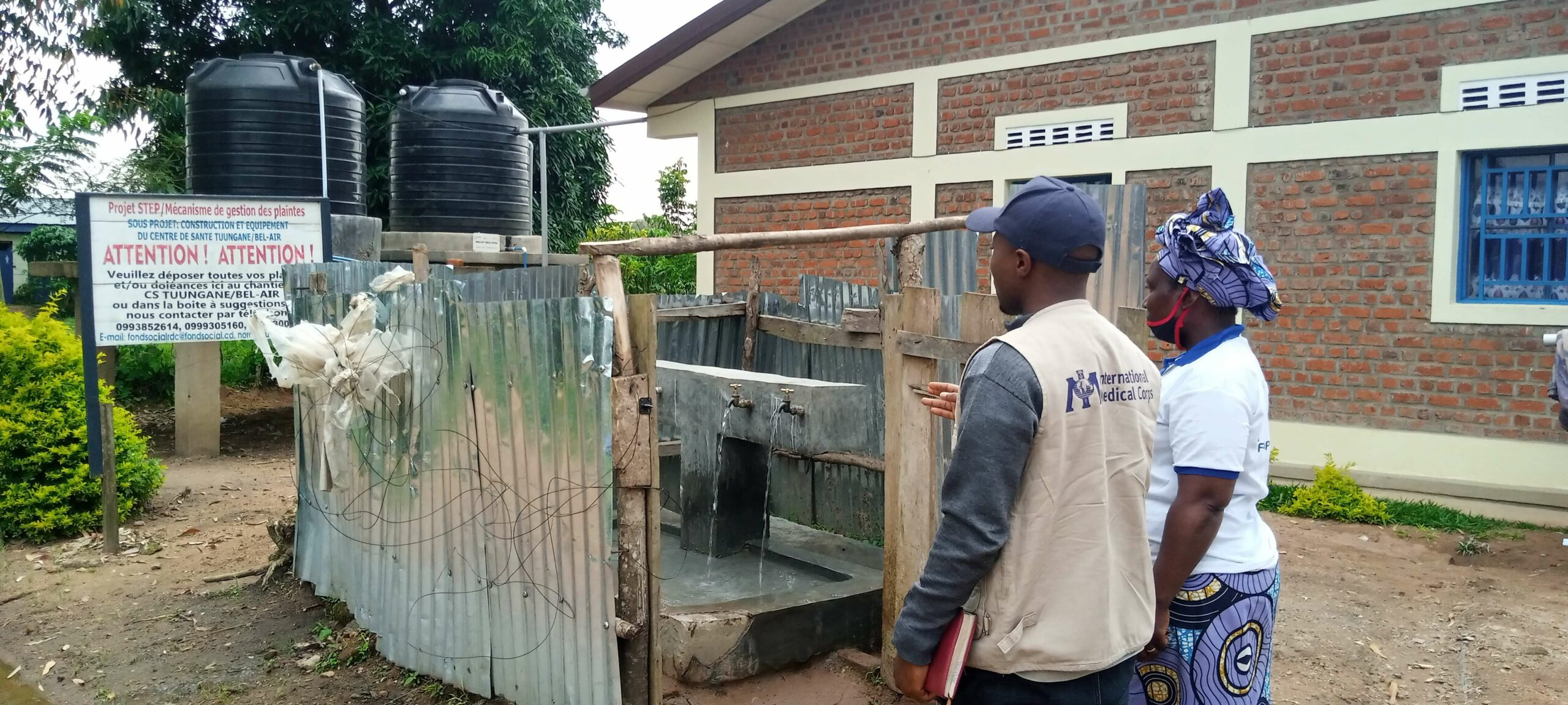 Our team in the Democratic Republic of the Congo (DRC) fitted solar panels and a solar pump at our Ebola Treatment Center in Bikoro.