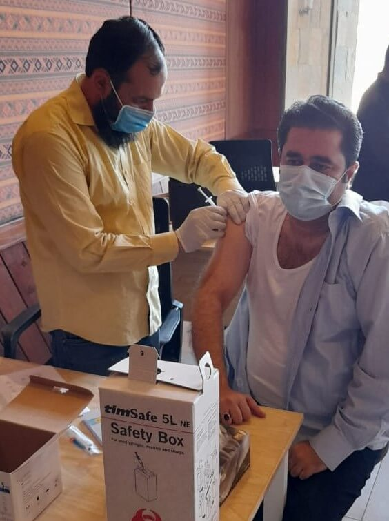 In Pakistan, our team is leading by example, with team members getting their COVID-19 vaccinations.