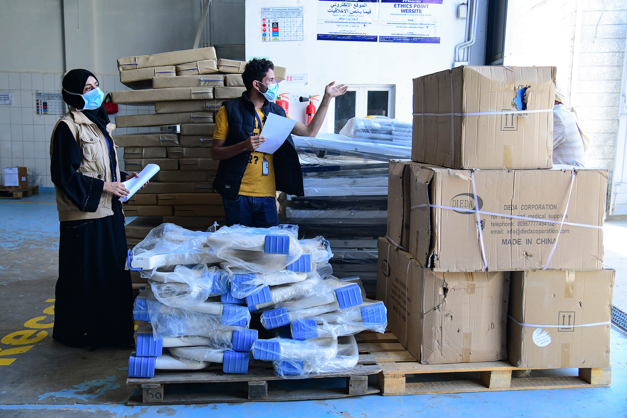 Our staff supervises the re-equipping and restocking of a health clinic we refurbished that serves one of the oldest orphanages in the Yemeni capital, Sana'a.