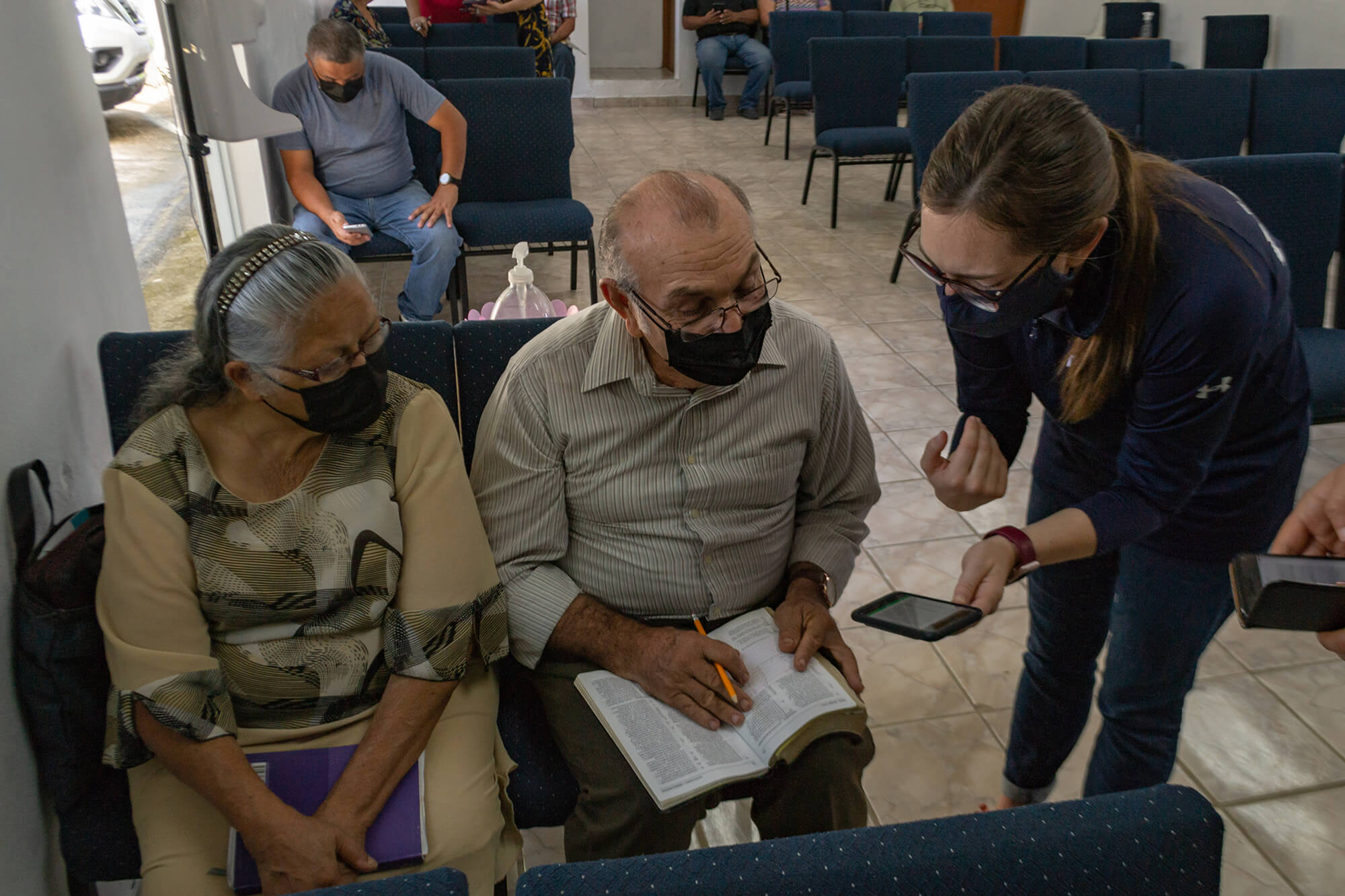 Vaccination information session with church leaders from Lares to answer questions and dispel myths surrounding vaccines.