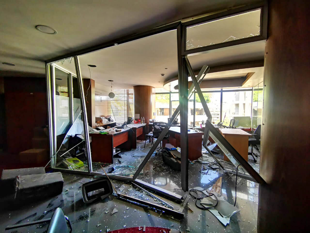 International Medical Corps' office following the explosion.