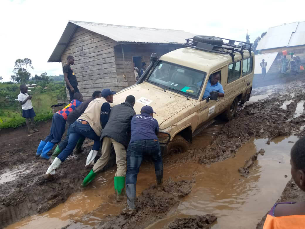 The flooded road to Masisi Health Zone in North-Kivu Province.